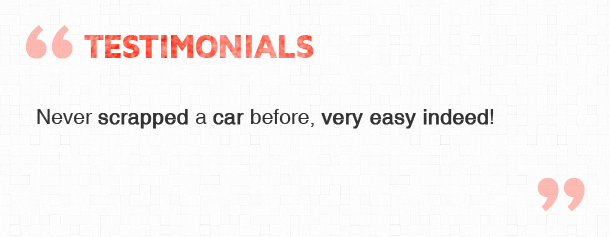 Scrap Cars Wirral Testimonial Quote